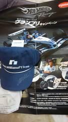 F1 ウィリアムズBMW  マークウェーバー直筆サイン入りキャップ 非売品未使用新品