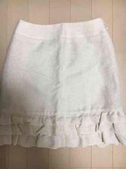 ネットデマミーナ、スカート、白、フリル