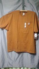 カーハートCarharttポケット付きTシャツ3XL未使用品カーハートブラウン難��