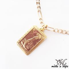�R�u�� �� �t�B�K�� �`�F�[�� �� �S�[���h GOLD �l�b�N���X 595