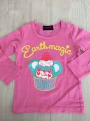EARTHMAGICアース☆カップケーキマフィTシャツ☆100ピンク