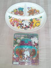 新品*グラグラ*babyストローマグカップ&可愛いお皿セット
