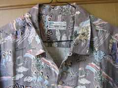日本製 パパス アロハシャツ フラガール M