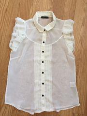 INGNIイングフリルシフォン半袖タンクトップシャツTシャツ白ホワイトトップス