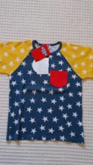 ★新品ANAP kids配色スター柄ワッフルTシャツ★120