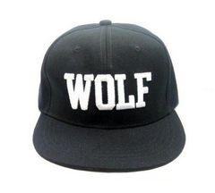 シンプル WOLF 平らつば 帽子 カジュアル 男女兼用 色選択