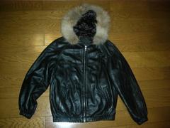 STUSSYステューシーレザーファージャケット黒MCOW革皮
