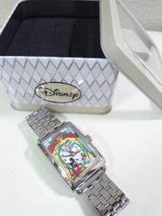 Disney/ミッキーマウスプレミアム スクエアフレームメタルリストウォッチ