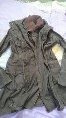 M ミリタリー W襟 モッズコート ロング丈ジャケット 上着
