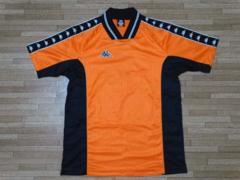 kappaカッパ*背番号有 半袖シャツ オレンジ L 1214