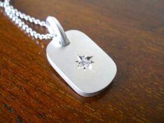 仁尾彫金『一つ星ダイヤプレート2.6mm』ハンドメイ
