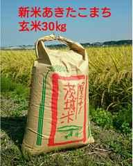 茨城28年産新米あきたこまち玄米30�s