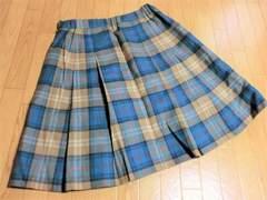 スコッチハウス/The Scotch Hェック柄ウールプリーツスカート