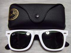 セレブ着用モデルレイバンウェイファーラーサングラスウェリントンrayban白黒眼鏡メガネ