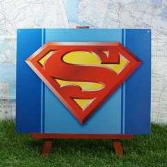 ★新品★【ブリキ看板】Superman/スーパーマン ロゴ