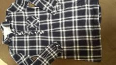 長めのチエックシャツ Sサイズ 試着のみ 激安処分価格!