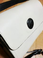 キタムラ/Kitamura 配色デザイン革製ショルダーバッグ