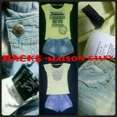 BACKS&MAISON GILFYセット☆スカパンTシャツ背中ガン開き