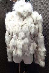 ◆ETHIQUE/豪華 毛皮 ブルーフォックス ジャケットコート/11AR