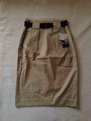 新品 ロデオクラウンズ 膝丈スカート S ベルト付き