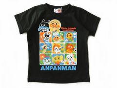 *ANPANMAN*アンパンマン天竺オールスターパネルTシャツ*ブラック*95�a*新品*