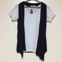 パフスリーブ  Tシャツ  ジレ  セット