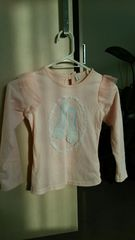 キッズ 長袖Tシャツ 薄ピンク 120サイズ