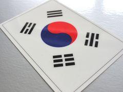 1□韓国国旗ステッカー☆1枚即買☆韓流KPOP