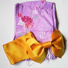 セレブお姉系アゲ嬢ラベンダーピンク色のカワイイ浴衣&2点セット送料込