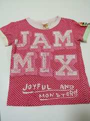 jamTシャツ120  ピンク