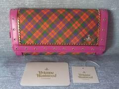 完売品新品タグ付◆ヴィヴィアンウエストウッド/チェック長財布