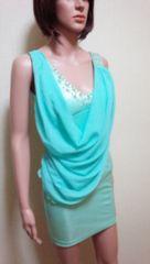 新同キャバ…胸元ビジュ盛り�Aストールのドレス☆3点で即落☆