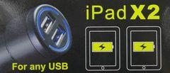 おしゃれに光るiPhone、iPadにUSBダブルソケットチャージャー