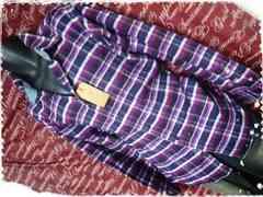 5L・カジュアルチェックネルシャツ 新品紫/MCQ-501