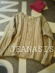 JEANASIS �P�[�u����wool���{�b�N�X�v���I-�o-�j�b�g free