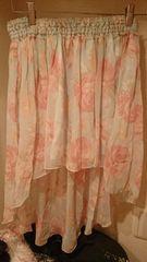 LIZ LISAリズリサ☆ドット薔薇柄フィッシュテールスカート