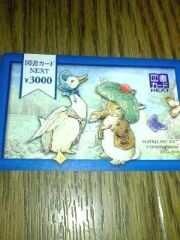 図書カードNEXT 3000円 ★切手・印紙払い OK