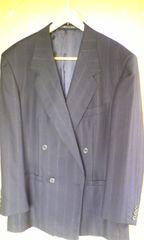 VERSACE ベルサーチ スーツ濃紺サイズ48