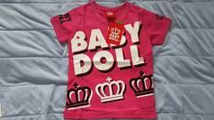 新品*BABYDOLL*王冠ロゴ*半袖Tシャツ*110*