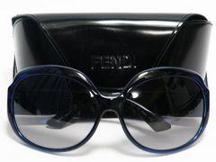 美品 FENDI フェンディ サングラス FF 紺 FS5002