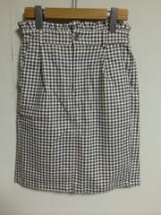NICE CLAUP ギンガムチェックタイトスカート