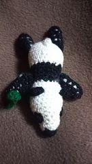 手編みのあみぐるみ、パンダ