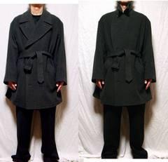 ■セデクションニコル■カシミア入りベルト付きコート