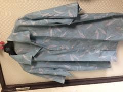 ライカスタイル🌟半袖シワ加工アロハシャツ50美品