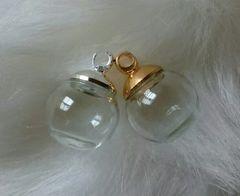 1スタ☆8mmキャップ 12mmガラスドーム☆シルバー10個