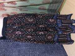 エスニック キラキラ黒スカート