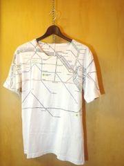 チャオパニック★ドイツ・ベルリンの地図プリントTシャツM-L
