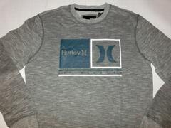 USA購入 ハーレー【Hurley】ロゴ スウェットトレーナーUS M 灰系