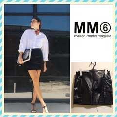 新品タグ付きMM6羊革ラムレザースカートmaison martin margiela