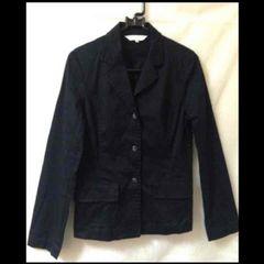 OZOC★オゾック シンプル 黒 ブラック テーラード ジャケット 38